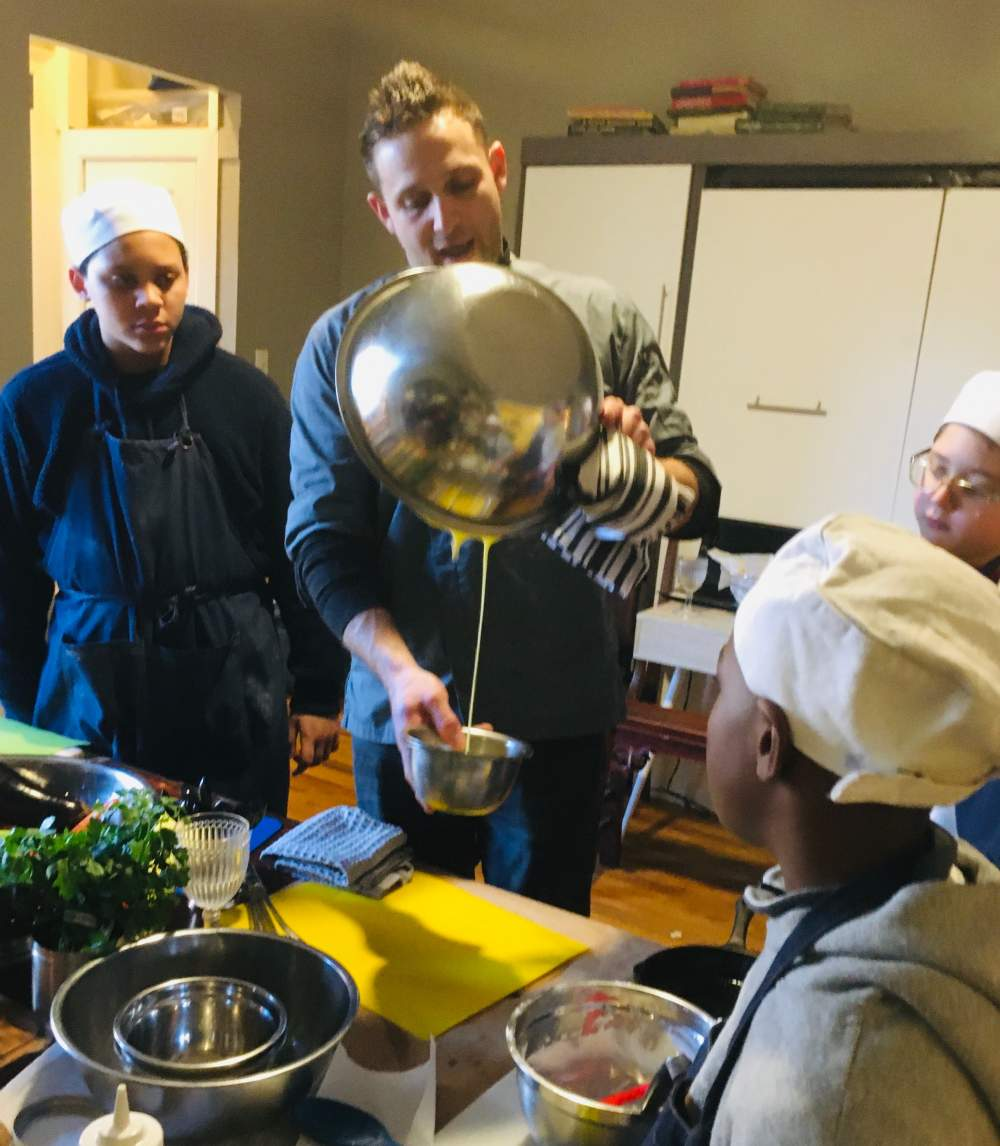 Celebrity Chef Chris Nirschel Teaching Kids and Young Teams
